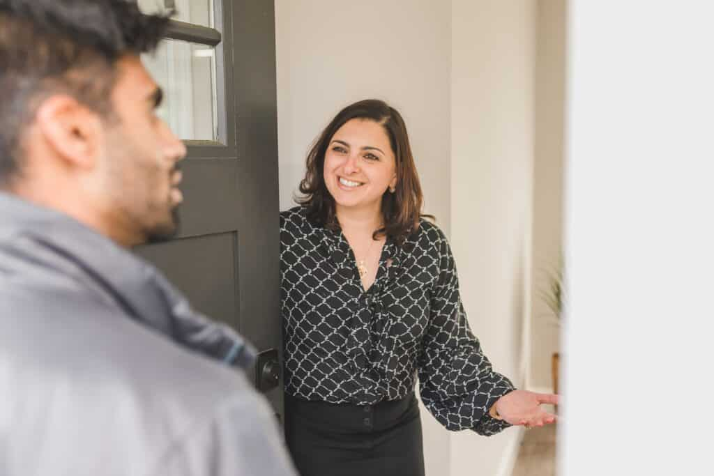 Agent at an open house