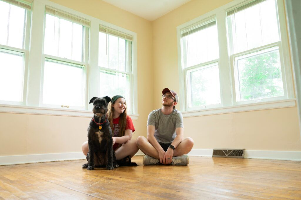 First Time Home Owners Moving Into Their House